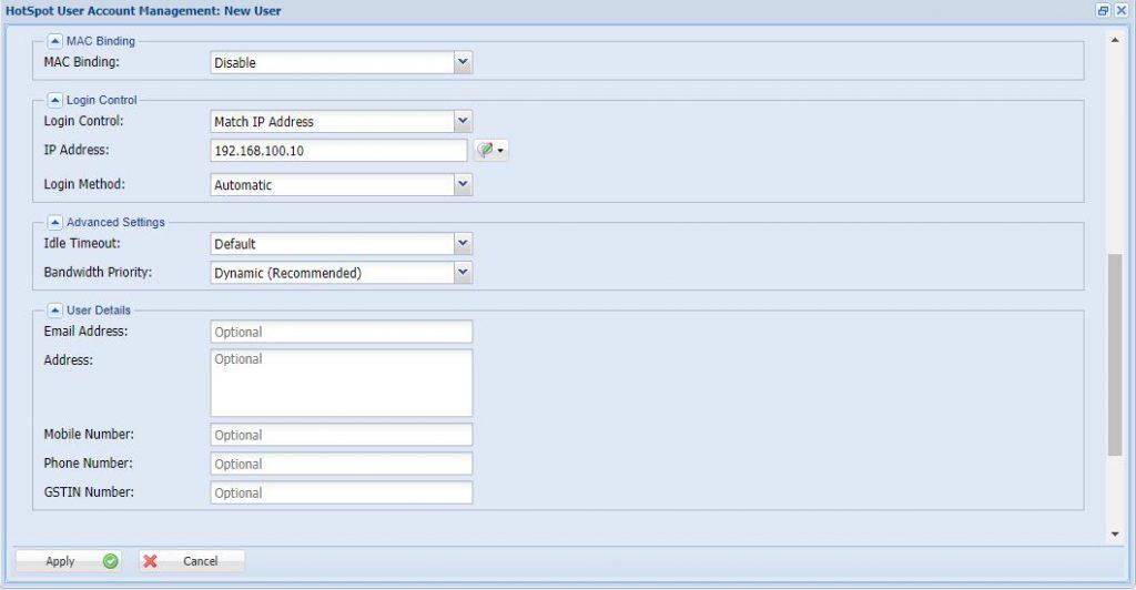 How to Configure Hotspot User Management