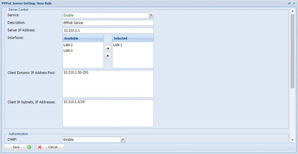 How to Configure the PPPoE User Creation