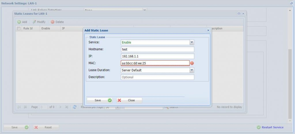How to configure the Dhcp_2